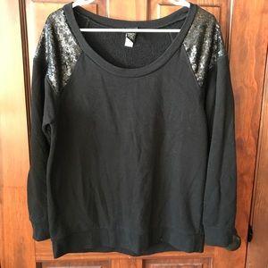 Torrid sequined shoulder sweatshirt